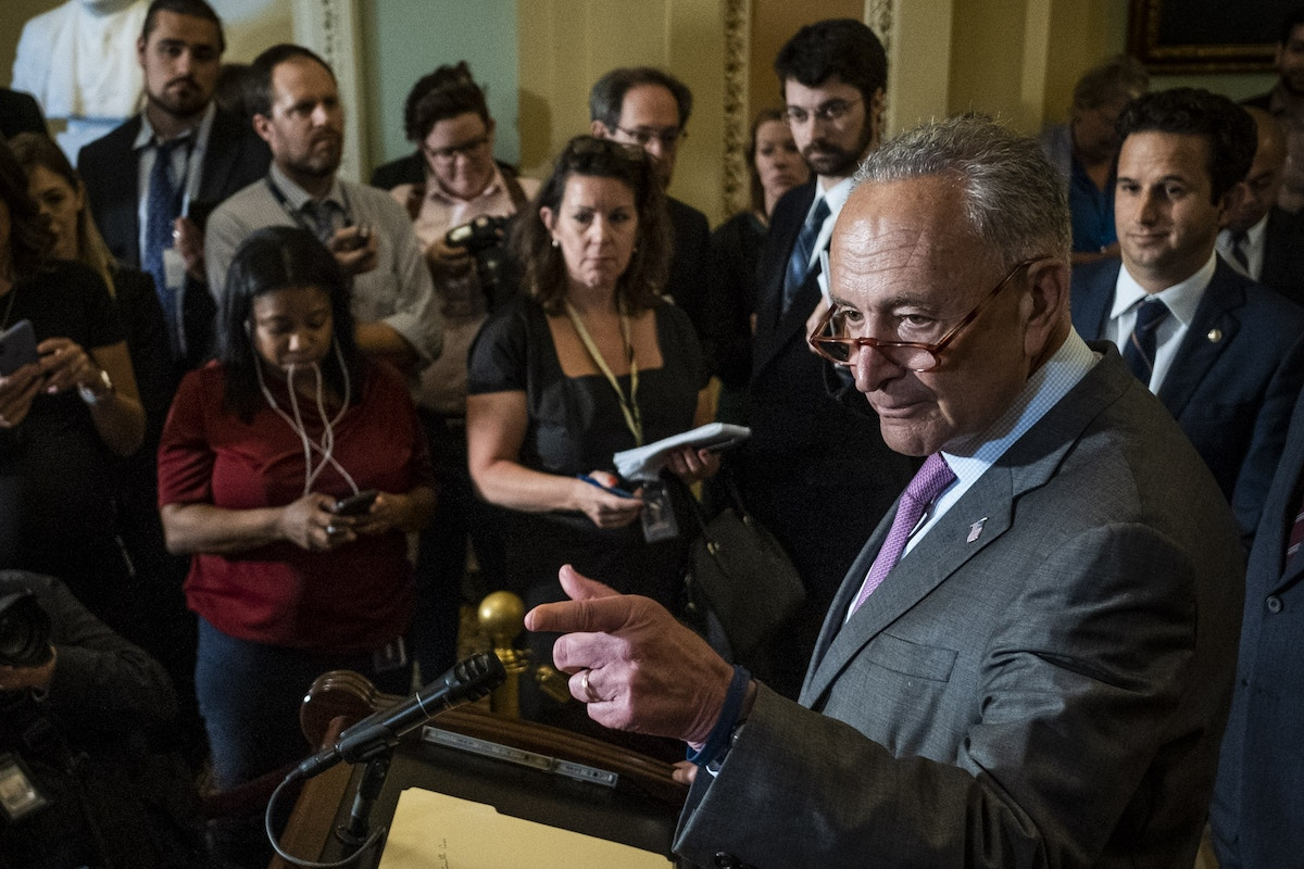 Chuck Schumer, in Meeting With Progressive Caucus, Said He Was Surprised House Democrats Waved Through the Senate Border Bill