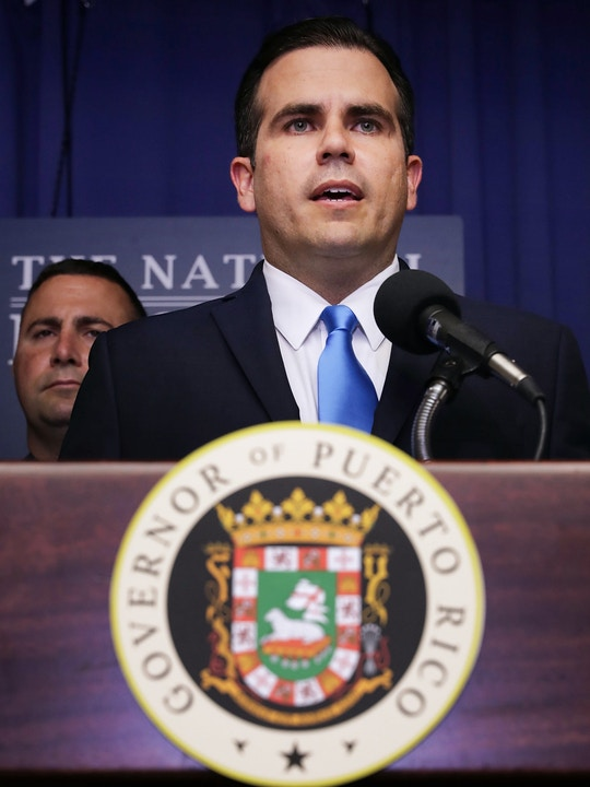 WASHINGTON, DC - JUNE 15:  Puerto Rico Gov. Ricardo Rossello speaks during a news conference about the June 11 vote in favor of U.S. statehood at the National Press Club June 15, 2017 in Washington, DC. Ninety-seven percent of voters in the plebiscite said they supported Puerto Rico becoming the 51st state.  (Photo by Chip Somodevilla/Getty Images)