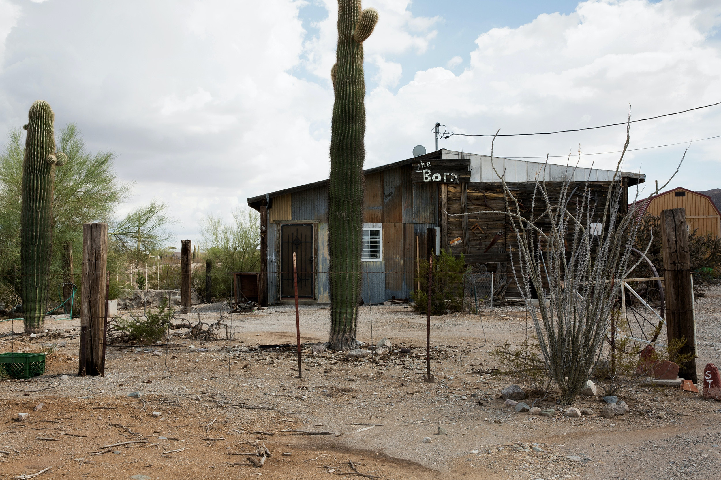 "Humanitarian aid shelter in Ajo, known to groups as ""The Barn"" and the location where Dr. Warren was taken into custody by CBP."