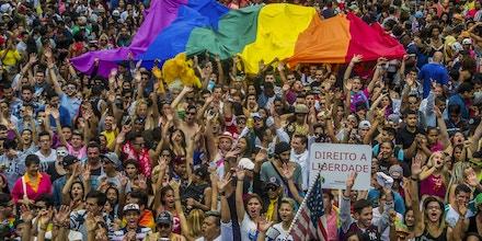 Bolsonarismo tem validade. Em 2015, Parada do Orgulho LGBT, na Avenida Paulista. Foto: Cris Faga/Fox Press Photo/Folhapress