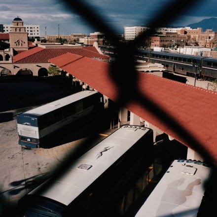 Overhead view of Albuquerque Amtrak & Greyhound Terminal