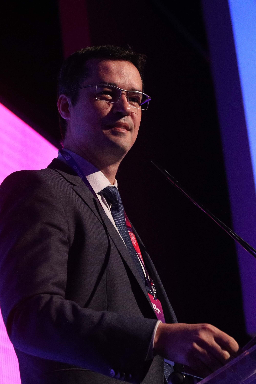 O procurador da República, Deltan Dallagnol palestra durante o Congresso Internacional de Compliance, promovido pela LEC, em São Paulo.