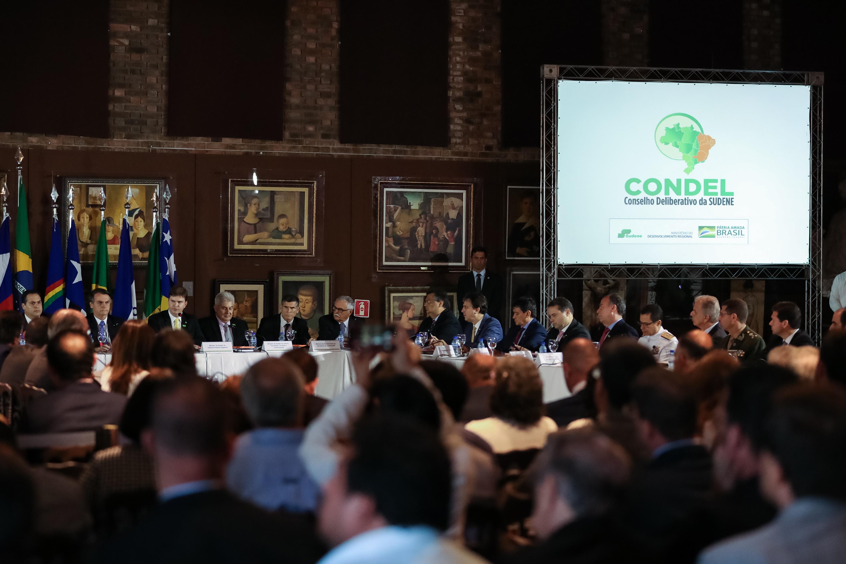 Presidente da República, Jair Bolsonaro, durante a 25ª Reunião do  Conselho Deliberativo da Superintendência de Desenvolvimento do Nordeste (SUDENE).
