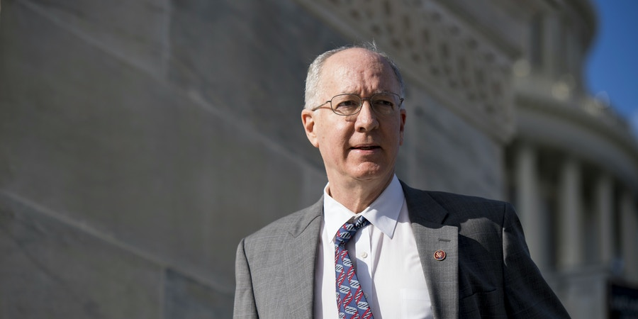 UNITED STATES - NOVEMBER 16: Rep. Bill Foster, D-Ill., walks down the House steps at the Capitol following passage of tax reform on Thursday, Nov. 16, 2017. (Photo By Bill Clark/CQ Roll Call) (CQ Roll Call via AP Images)