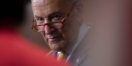 Senate Minority Leader Chuck Schumer during a press conference on Capitol Hill in Washington, D.C. on July 11, 2019.