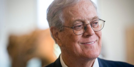This photo taken June 11, 2014 shows David Koch, the executive vice president of Wichita's Koch Industries in New York City. In the short-on-specifics elections just ended, the economy was the main issue, Republicans ran against President Barack Obama and Democrats campaigned against the billionaire Koch brothers. That leaves the new GOP majority in Congress with a mandate to improve the economy, yet without a national consensus on how to go about it. At the same time, shrunken Democratic minorities in the House and Senate are in search of a more appealing approach. (AP Photo/The Wichita Eagle, Travis Heying)