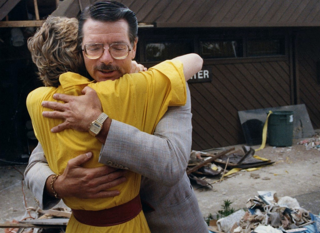 In this 1986 file photo, abortion doctor George Tiller hugs Charlotte Taft after the clinic was bombed in Wichita, Kansas. Tiller was fatally shot on Sunday, May 31, 2009, during church services at Reformation Lutheran Church in Wichita.  (Photo by Gregory Drezdzon/Wichita Eagle/MCT via Getty Images)