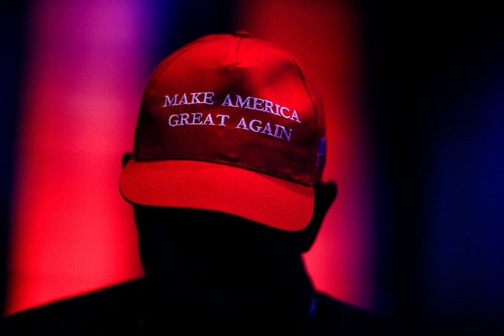 DENVER, CO - JULY 12: A man wears a MAGA hat during the Western Conservative Summit on Friday, July 12, 2019. (Photo by AAron Ontiveroz/MediaNews Group/The Denver Post via Getty Images)