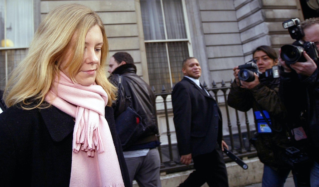 LONDON - NOVEMBER 27:  Katherine Gun leaves Bow Street Magistrates Court on November 27, 2003 in London. Gun was arrested in March this year on allegations of violating the Official Secrets Act, which requires that serving or former members of the intelligence agencies do not divulge information about their work without official authority. (Photo by Bruno Vincent/Getty Images)