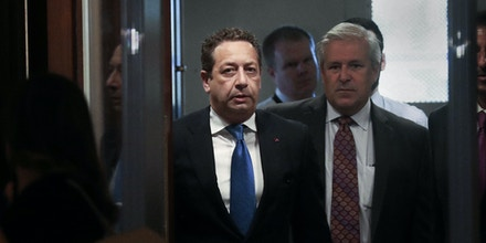 Felix Sater, a Russian-born real estate developer, arrives for a closed-door interview with the U.S. House Intelligence Committee about his experiences working on a proposed Trump tower project in Moscow during the 2016 election, at the U.S. Capitol in Washington, U.S. July 9, 2019. REUTERS/Jonathan Ernst - RC1DF96B09A0