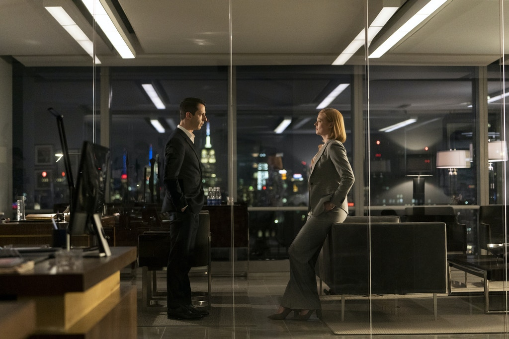 "Jeremy Strong as Kendall Roy, left, in a scene with his sibling rival Sarah Snook as Siobhan ""Shiv"" Roy, right, in HBO's ""Succession"" in 2019."