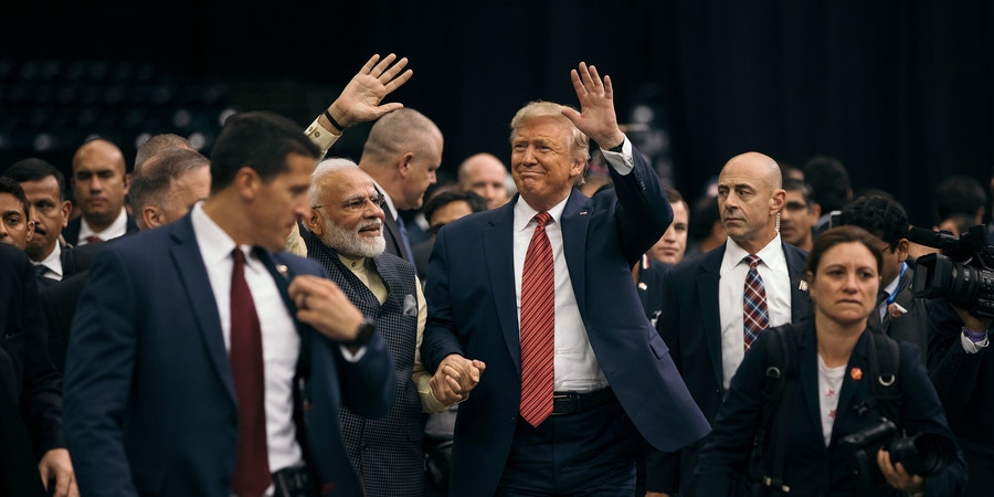 Scenes from the Texas India Forum / Howdy Modi event between Indian Prime Minister, Narendra Modi and US President, Donald Trump, Sunday, September 22nd. 2019 at NRG Stadium in Houston, Texas.Todd Spoth for The Intercept.