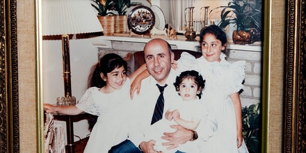 A 1985 family photo shows Alex Odeh with his three young daughters, taken months before he was killed on Oct. 11, 1985, by a pipe bomb in Santa Ana, Calif.
