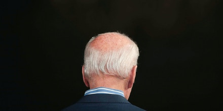 DES MOINES, IOWA – MAY 1: Democratic presidential candidate and former vice president Joe Biden speaks to guests during a campaign event at The River Center on May 1, 2019 in Des Moines, Iowa. The event was Biden's final rally in the state, wrapping up his first visit since announcing that he was officially seeking the Democratic nomination for president.   (Photo by Scott Olson/Getty Images)