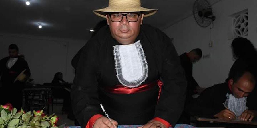 Greisson Izidorio no momento de sua formatura em Ciências Sociais, na UFRN/Pronera..