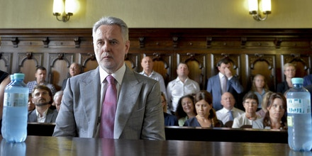 Ukrainian oligarch Dmytro Firtash looks on prior to a public hearing at the supreme court in Vienna on June 25, 2019. (Photo by HERBERT NEUBAUER / APA / AFP) / Austria OUT        (Photo credit should read HERBERT NEUBAUER/AFP/Getty Images)