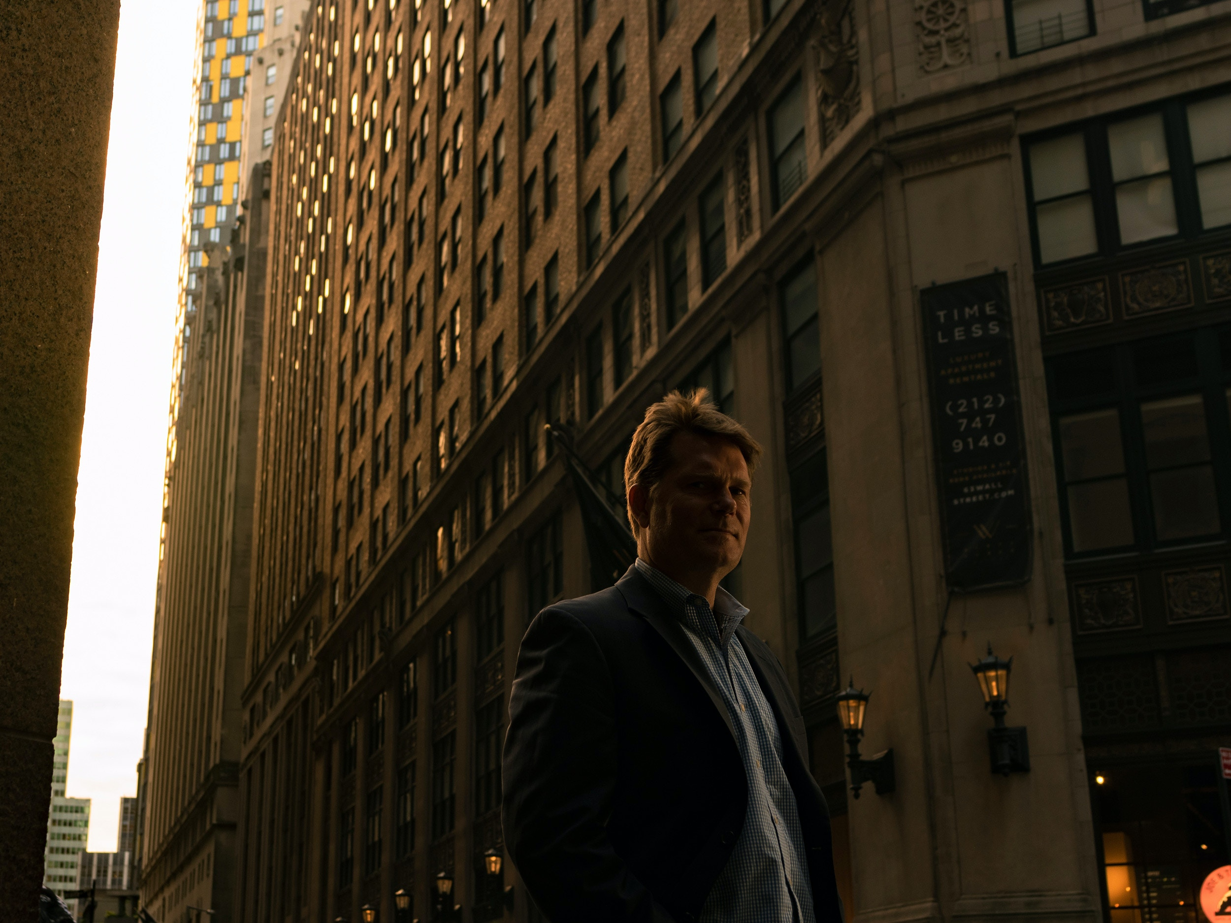 Former FBI agent and writer Michael German photographed near Wall Street downtown Manhattan on September 13, 2019. Sasha Maslov for the Intercept