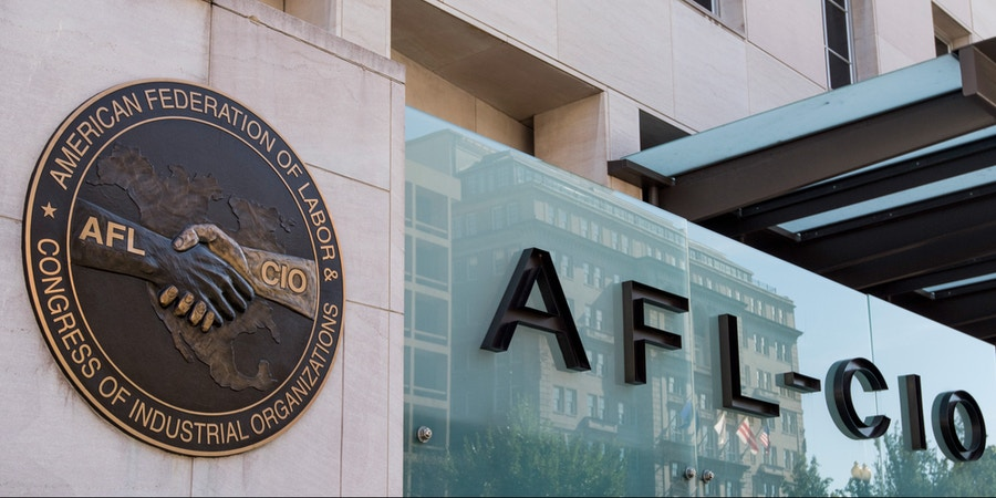 UNITED STATES - OCTOBER 20: The AFL-CIO building in Washington, DC on Friday, Oct. 20, 2017. (Photo By Bill Clark/CQ Roll Call) (CQ Roll Call via AP Images)