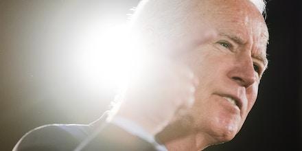 Democratic presidential candidate former Vice President Joe Biden speaks during a campaign event, Wednesday, Oct. 23, 2019, in Scranton, Pa. (AP Photo/Matt Rourke)
