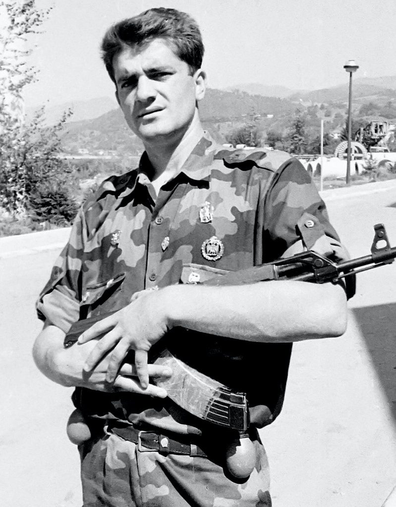 "This April 1992 photo shows Milan Lukic, in Visegrad, eastern Bosnia-Herzegovina. Lukic, a Bosnian Serb paramilitary commander indicted by the U.N. war crimes tribunal for some of the worst atrocities in the Bosnian war has been arrested in Argentina, Argentine police and Serbian government officials said Monday, Aug. 8 2005. Argentine Federal Police said that Milan Lukic was arrested early Monday in downtown Buenos Aires, following an ""international request."" Lukic was indicted by the tribunal in The Hague, Netherlands, in 2000 for crimes against humanity. He has also been sentenced to 20 years in prison in Serbia for war crimes, but has been on the run since late 1990s. (AP Photo / Str, )"