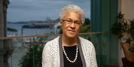 Patricia Hill Collins no Museu de Arte do Rio, onde participou da mesa 'Seu lugar é lá', parte da programação da Feira Literária das Periferias, a Flup, em 20 de outubro.