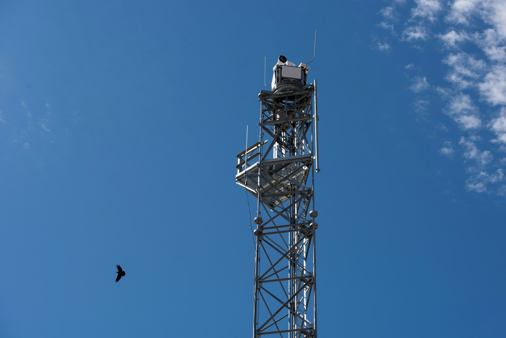Why, Ariz. July 10, 2019: One of Elbit Systems' integrated fixed towers which monitor everything within a several mile radius just south of Why, Ariz. on Wednesday July 10, 2019. (Ash Ponders for The Intercept)