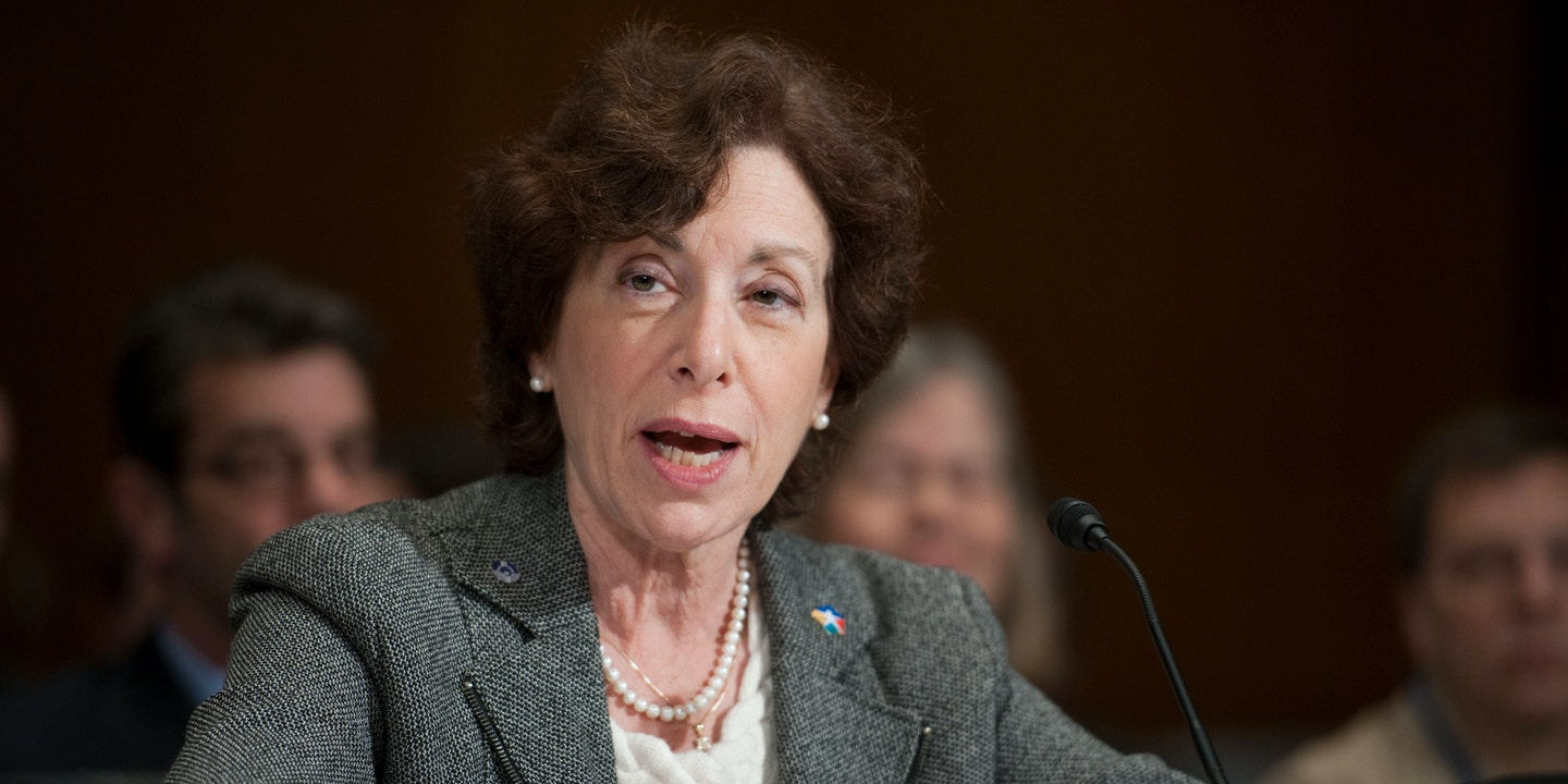 WASHINGTON, DC- Feb. 02: Linda Birnbaum, director of the National Institutes of Environmental Health Sciences and National Toxicology Program, during the Senate Environment and Public Works hearing on chromium-6 and perchlorate and other chemicals that have been found in drinking water supplies the U.S. (Photo by Scott J. Ferrell/Congressional Quarterly/Getty Images)