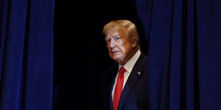TOPSHOT - US President Donald Trump arrives for a press conference in New York, September 25, 2019, on the sidelines of the United Nations General Assembly. (Photo by SAUL LOEB / AFP)        (Photo credit should read SAUL LOEB/AFP/Getty Images)