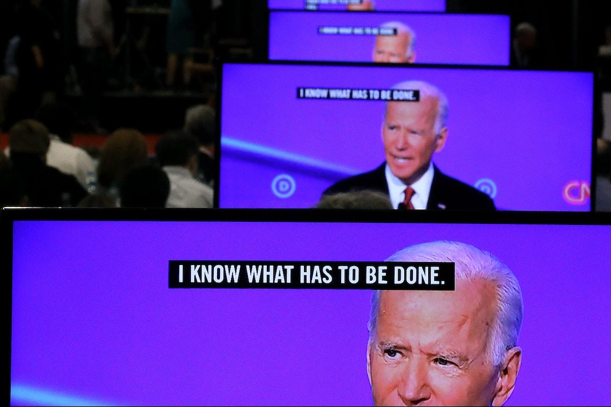 Joe Biden, in Stumbling Debate Performance, Claims Credit for Elizabeth Warren's Signature Achievement
