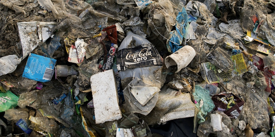 This photo taken on May 19, 2018 shows plastic waste on a garbage-filled beach on the Freedom island critical habitat and ecotourism area near Manila. (Photo by NOEL CELIS / AFP)        (Photo credit should read NOEL CELIS/AFP/Getty Images)