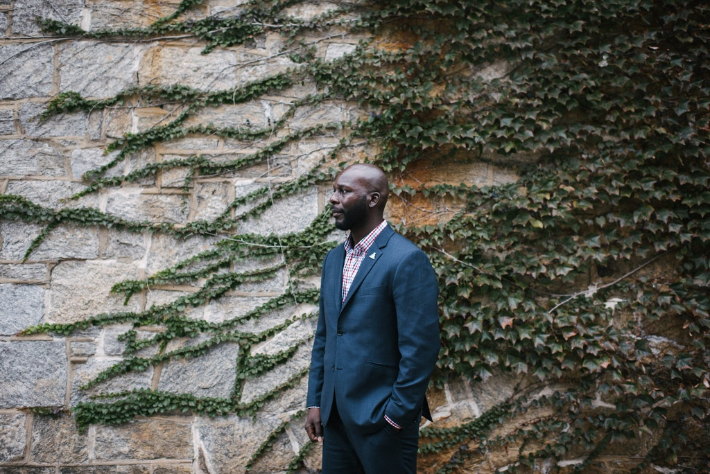 Darren Mack, director of community engagement and advocacy of Just Leadership USA, stands for a portrait after a presidential town hall moderated by formerly incarcerated people was held at the Eastern State Penitentiary in Philadelphia, PA. on Monday, October 28, 2019. Hannah Yoon for The Intercept