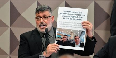 O deputado Alexandre Frota (PSDB) compareceu na tarde desta quarta-feira (30) à CPMI das Fake News, no Senado Federal, em Brasília. O deputado já havia declarado a existência de rede organizada para a propagação de fake news.