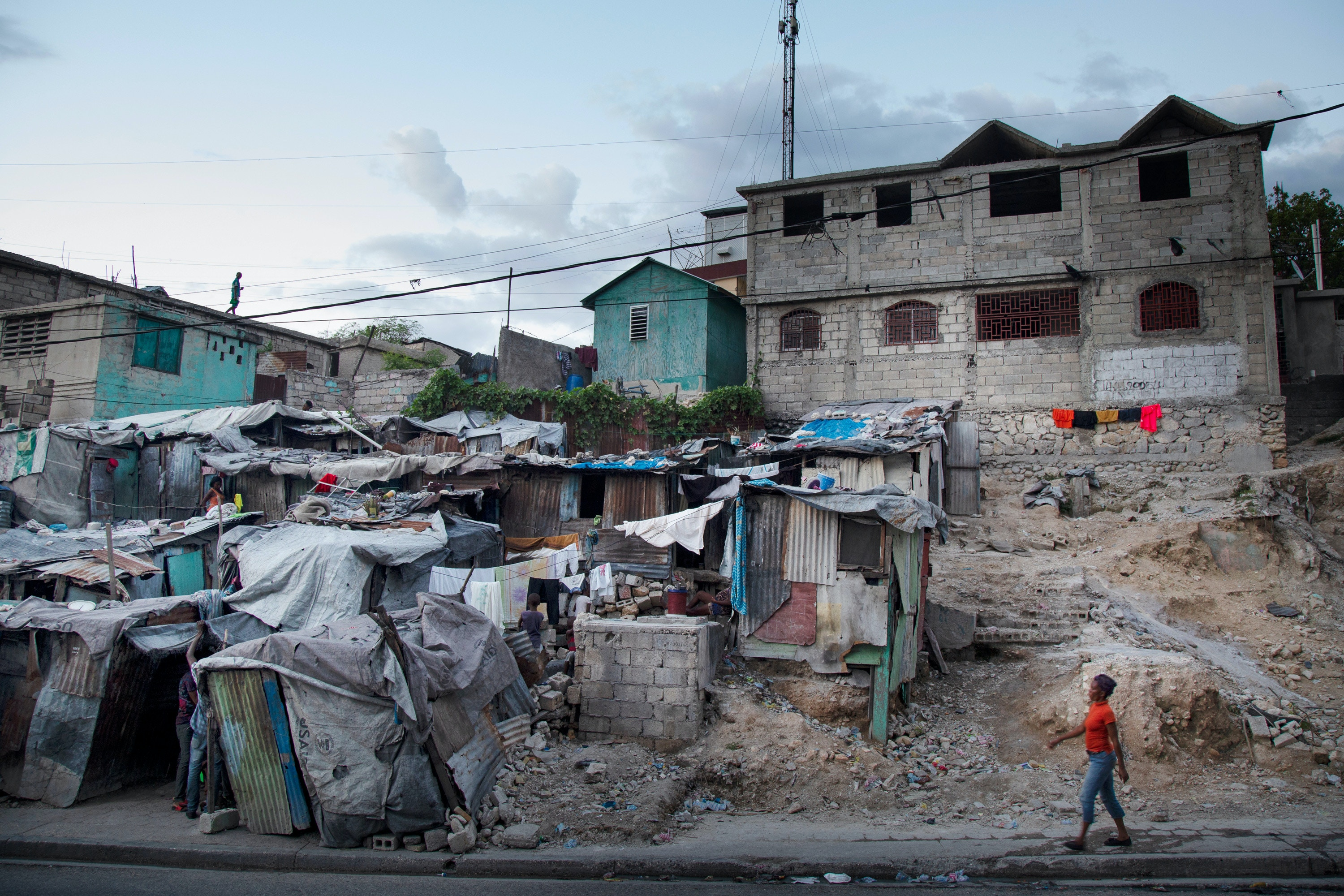 A tent community that has existed in the Fort National neighborhood of Port-au-Prince since the 2010 earthquake.