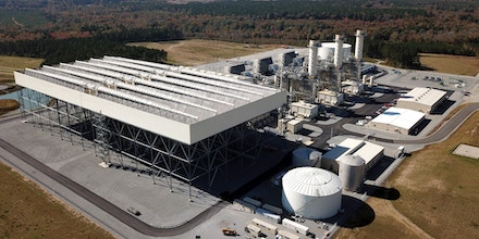 An aerial view of Dominion Energy's Brunswick Power Station in Brunswick County, Va., on Oct. 31, 2018.