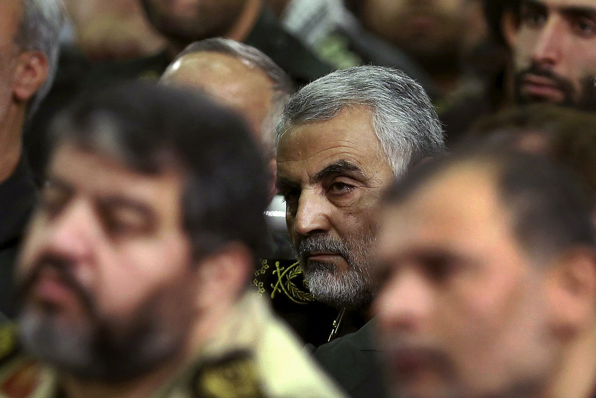 Qassem Suleimani Major General the Commander of the Quds Force in the Iranian Army of the Guardians of the Islamic Revolution, Tehran-Iran 10/0/2012/AY-COLLECTION_112013/Credit:AY-COLLECTION/SIPA/1503091128 (Sipa via AP Images)