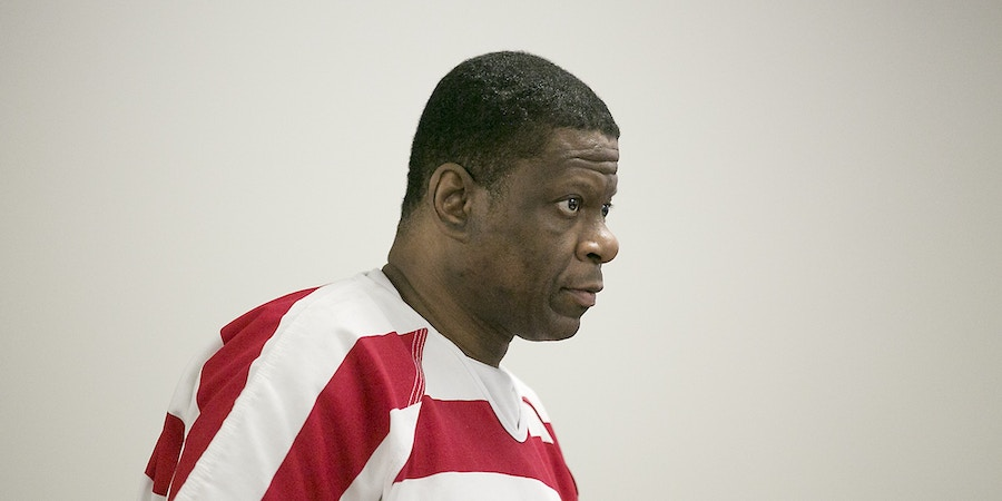 Death Row inmate Rodney Reed was back in Bastrop County District Court Tuesday October 10. 2017 asking Judge Doug Shaver to reconsider testimony from his murder trial in the slaying of Stacey Stites. (Ralph Barrera/Austin American-Statesman via AP)