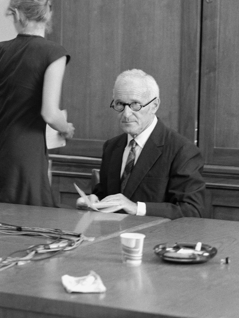 Sidney Gottlieb of the Central Intelligence Agency is pictured in a room near the Senate subcommittee on health hearing room here, Wednesday September 21, 1977. (AP Photo)