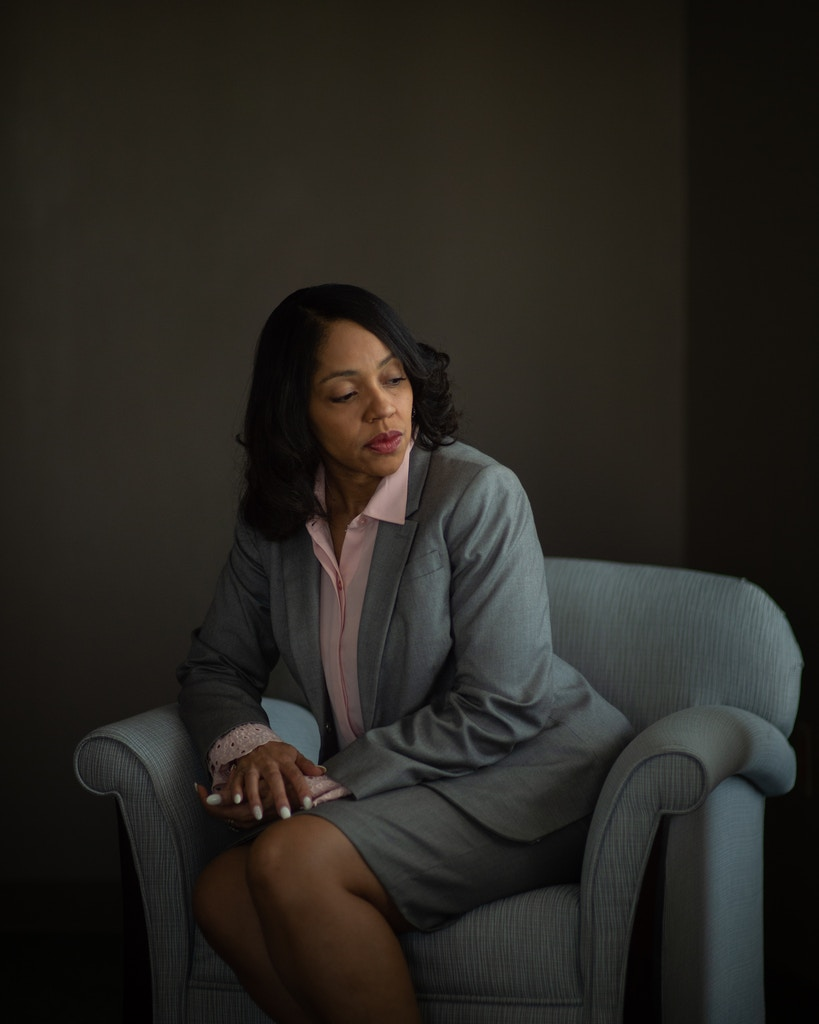 Aramis Ayala poses for a portrait in her office at the State Attorney's building on Friday, November 22, 2019 in downtown Orlando, Florida. Ayala is the State Attorney for the Ninth Judicial Circuit Court of Florida and a stark opponent of the death penalty - she had decided not to seek reelection in 2020. (Zack Wittman for The Intercept)