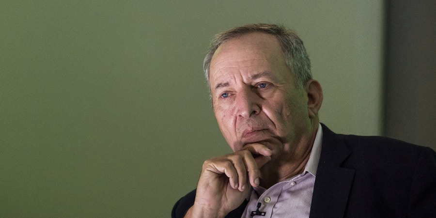 Larry Summers, former U.S. Treasury secretary, listens during the New Work Summit in Half Moon Bay, California, U.S., on Tuesday, Feb. 26, 2019. The event gathers powerful leaders to assess the opportunities and risks that are now emerging as artificial intelligence accelerates its transformation across industries. Photographer: David Paul Morris/Bloomberg via Getty Images