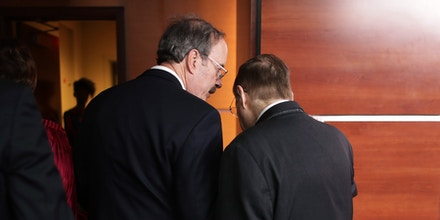 WASHINGTON, DC - JUNE 11: Foreign Affairs Committee Chairman  Eliot Engel (D-NY) (L) talks with House Judiciary Committee Chairman Jerrold Nadler (D-NY) following a news conference at the U.S. Capitol June 11, 2019 in Washington, DC. The House passed a resolution Tuesday that grants the Judiciary Committee the power to petition a federal judge to force Attorney General William P. Barr and the former White House counsel Donald F. McGahn II to comply with congressional subpoenas related to former Special Counsel Robert Mueller's report. (Photo by Chip Somodevilla/Getty Images)