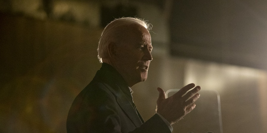 Former U.S. Vice President Joe Biden, 2020 Democratic presidential candidate, speaks during a campaign event at the Jackson County Fairgrounds in Maquoketa, Iowa, U.S., on Wednesday, Oct. 30, 2019. Allies ofBidenlaunched their super-PAC supporting his presidential candidacy on Wednesday, arguing that it's needed to help him fight attacks from PresidentDonald Trumpas his campaign focuses on the Democratic primaries. Photographer: Daniel Acker/Bloomberg via Getty Images