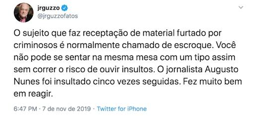 guzzo 1573335801 - PARA A IMPRENSA 'ISENTA', VALE TUDO: do 'lavajatismo' cego ao 'tapa na cara' - Por João Filho