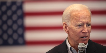 ALGONA, IOWA - DECEMBER 02: Democratic presidential candidate, former Vice President Joe Biden speaks during a campaign stop at the Water's Edge Nature Center on December 2, 2019 in Algona, Iowa. The stop was part of Biden's 650-mile