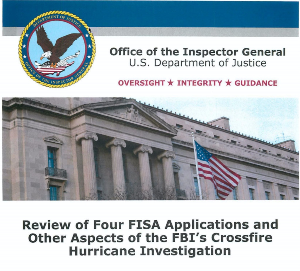 coverrr-1576166790 The Inspector General's Report on 2016 FBI Spying Reveals a Scandal of Historic Magnitude: Not Only for the FBI but Also the U.S. Media [your]NEWS
