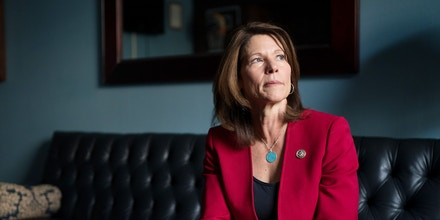 FILE -- Rep. Cheri Bustos (D-Ill.), now the chair of the Democratic Congressional Campaign Committee, in her office on Capitol Hill in Washington, Nov. 14, 2018. Five months after Democrats assumed control of the House with the most diverse class ever, concerns about a lack of people of color in critical roles at the DCCC have prompted a huge shake-up. (Erin Schaff/The New York Times)