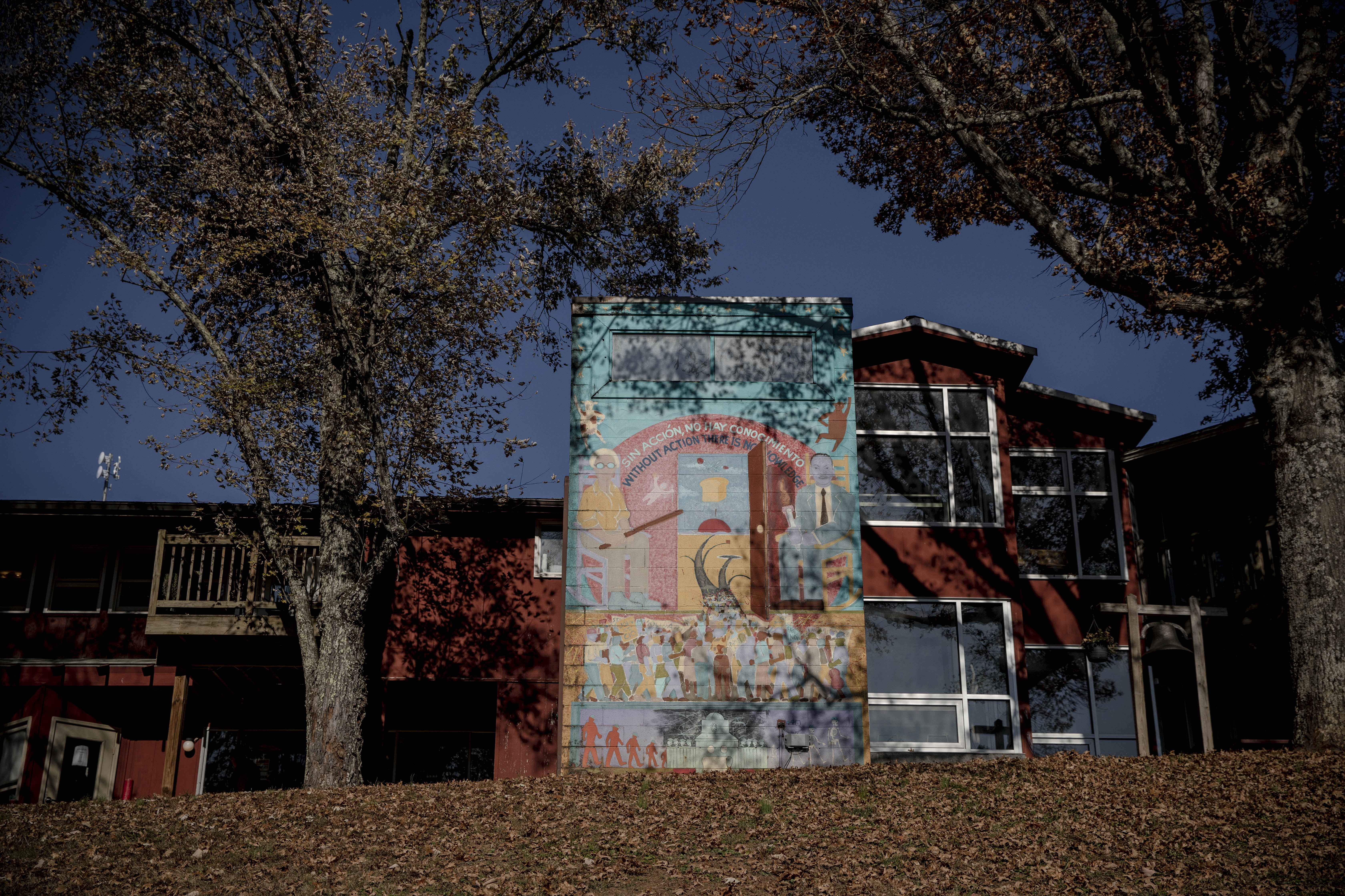 November 18, 2019 - New Market , TN: A view of a mural at the Highlander Research and Education Center.