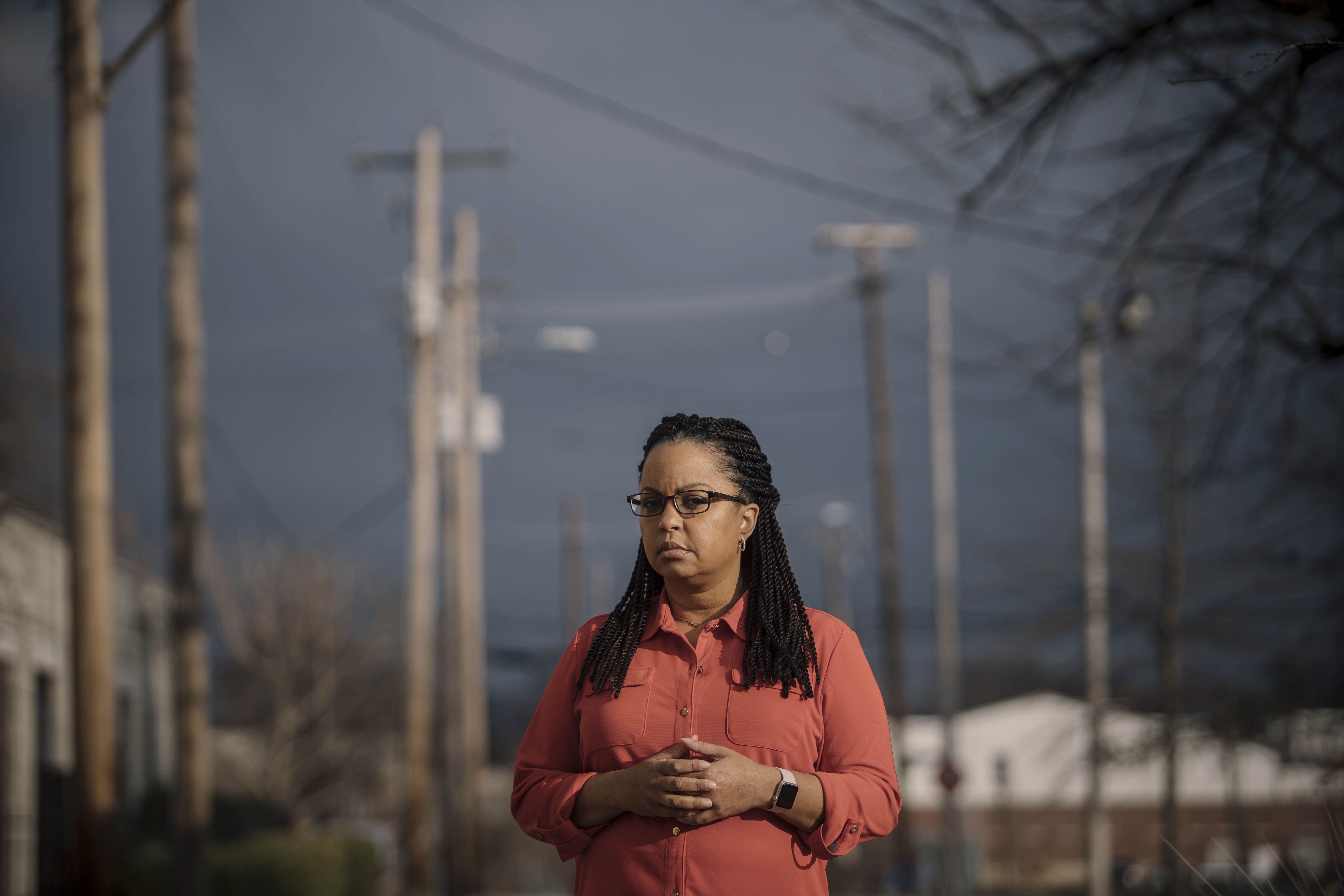 December 6, 2019 - Memphis, TN: Wendi C. Thomas, a journalist who has been reporting on inequity in Memphis for years, stands for a portrait.