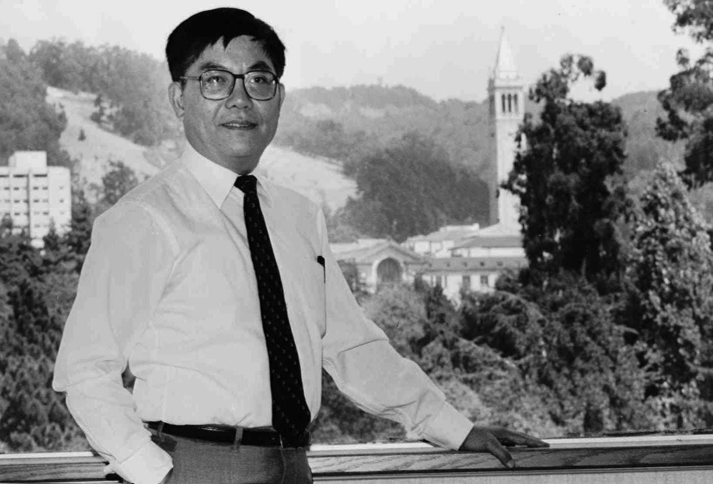 FILE--Chang-Lin Tien, chancellor of the University of California at Berkeley, shown in this 1990 file photo on the Berkeley, Calif., campus, is expected to announce his resignation Tuesday, July 9, 1996, the Sacramento Bee reported. Tien, 66, has been chancellor for the past six years. (AP Photo/Kristy MacDonald)