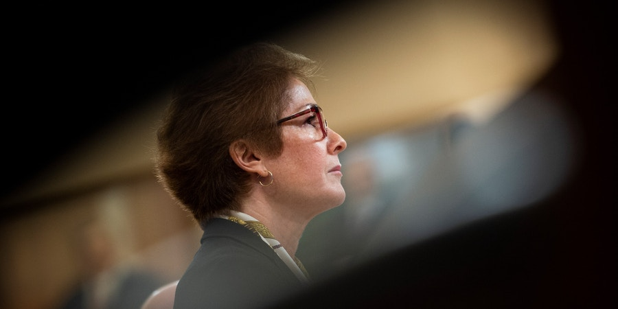 UNITED STATES - NOVEMBER 15: Former U.S. Ambassador to Ukraine Marie Yovanovitch testifies during the House Select Intelligence Committee hearing on the impeachment inquiry into President Donald Trump on Friday Nov. 15, 2019. (Photo by Caroline Brehman/CQ-Roll Call, Inc via Getty Images)
