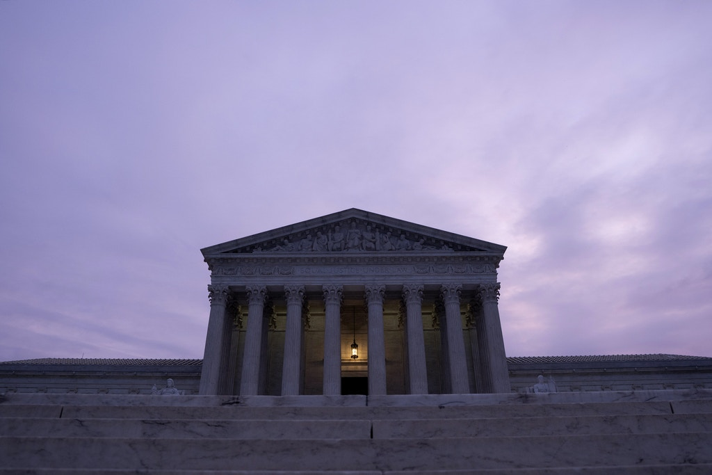 The U.S. Supreme Court building stands at dawn in Washington, D.C., U.S., on Saturday, Nov. 30, 2019. The House Intelligence Committee is preparing to release a scathing report alleging President Donald Trump engaged in a months-long effort to seek foreign interference in the 2020 election and obstruct a congressional investigation. Photographer: Stefani Reynolds/Bloomberg via Getty Images